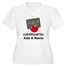 Personalized Kindergarten Plus Size T-Shirt