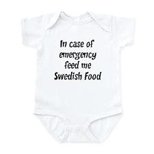 Feed me Swedish Food Infant Bodysuit