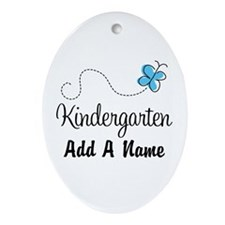 Personalized Kindergarten butterfly Ornament (Oval