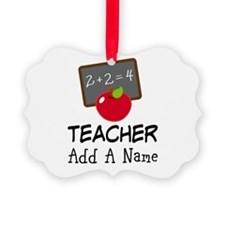 Personalized Teacher Gift Ornament