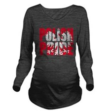 POLISHPRIDE1.png Long Sleeve Maternity T-Shirt