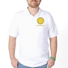 Sun with Custom Text. T-Shirt