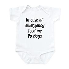 Feed me Po Boys Infant Bodysuit