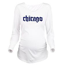 chicagoblu.png Long Sleeve Maternity T-Shirt