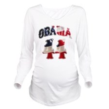 obama44flag4.png Long Sleeve Maternity T-Shirt