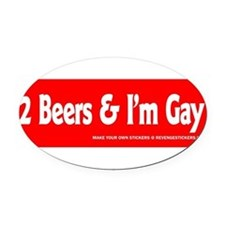 Cute Funny gay Oval Car Magnet