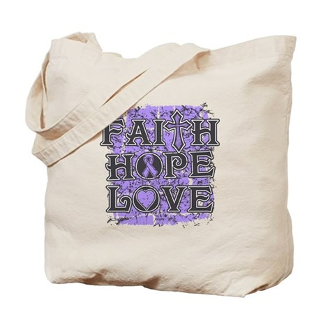 General Cancer Faith Hope Love Tote Bag