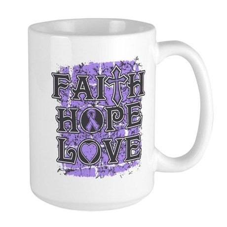 General Cancer Faith Hope Love Large Mug