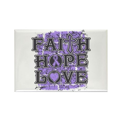 General Cancer Faith Hope Love Rectangle Magnet