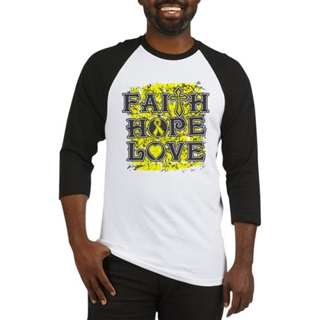 Ewings Sarcoma Faith Hope Love Baseball Jersey