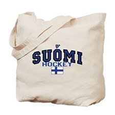 Finland(Suomi) Hockey Tote Bag