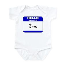 hello my name is jim  Infant Bodysuit