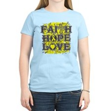 Endometriosis Faith Hope Love T-Shirt