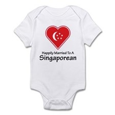 Happily Married Singaporean Infant Bodysuit