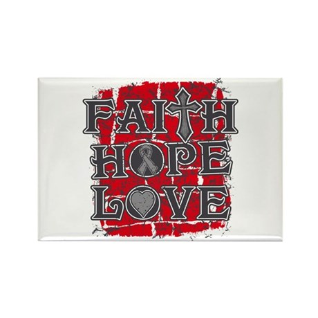 Diabetes Faith Hope Love Rectangle Magnet