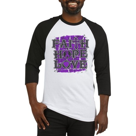 Crohns Disease Faith Hope Love Baseball Jersey