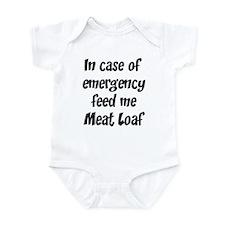 Feed me Meat Loaf Infant Bodysuit