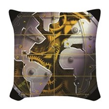 AXIS Watch globe black Woven Throw Pillow