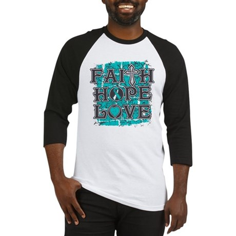 Cervical Cancer Faith Hope Love Baseball Jersey