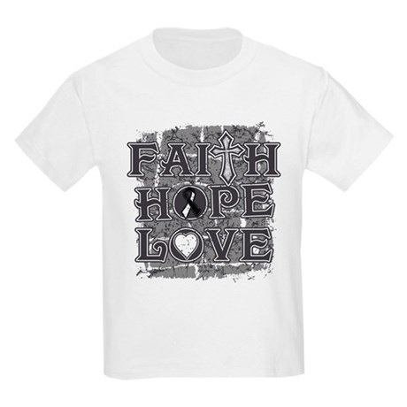 Carcinoid Cancer Faith Hope Love Kids Light T-Shir