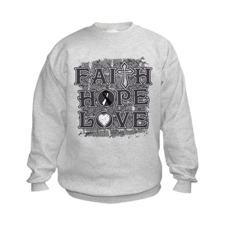 Carcinoid Cancer Faith Hope Love Kids Sweatshirt