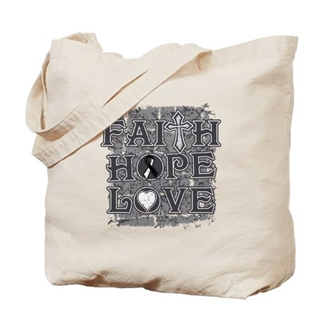 Carcinoid Cancer Faith Hope Love Tote Bag