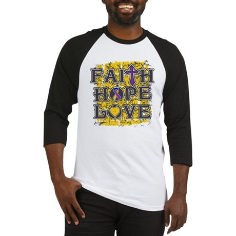 Bladder Cancer Faith Hope Love Baseball Jersey