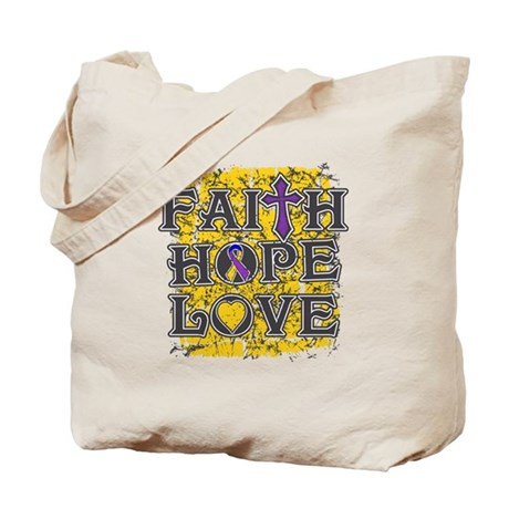 Bladder Cancer Faith Hope Love Tote Bag