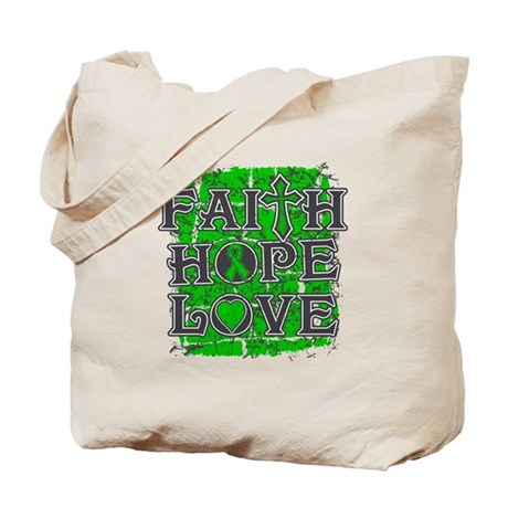Bile Duct Cancer Faith Hope Love Tote Bag