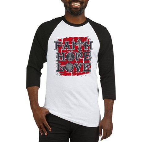 Brain Cancer Faith Hope Love Baseball Jersey