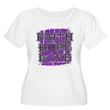 Alzheimers Disease Faith Hope Love T-Shirt