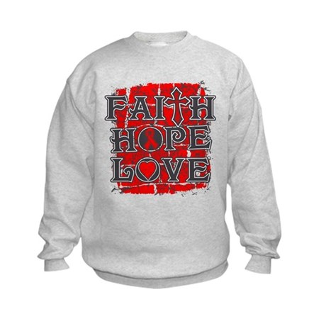 AIDS Faith Hope Love Kids Sweatshirt