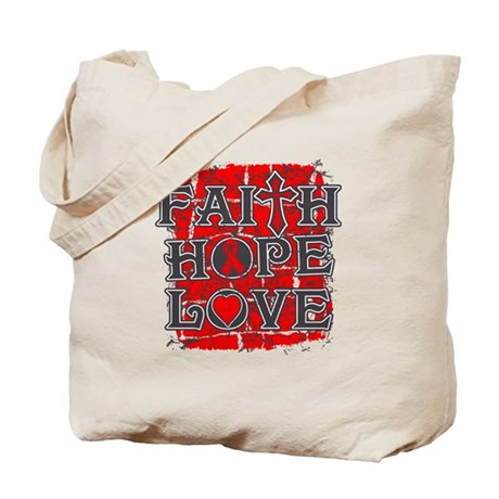 AIDS Faith Hope Love Tote Bag