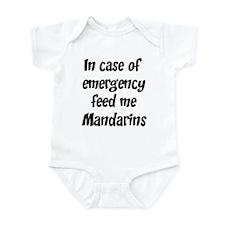 Feed me Mandarins Infant Bodysuit