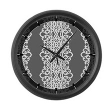 Large Wall Clock Lace Embroidery 1