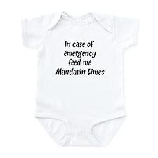 Feed me Mandarin Limes Infant Bodysuit