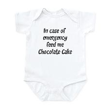 Feed me Chocolate Cake Infant Bodysuit