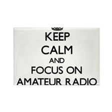 Keep calm and focus on Amateur Radio Magnets