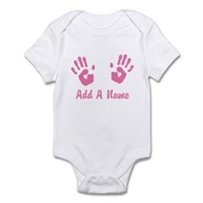 Baby Girl Pink Handprints Infant Bodysuit