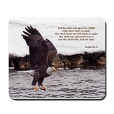 ISAIAH 40:31 WINGED EAGLES Mousepad