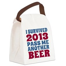 I Survived 2013 Pass Me Another B Canvas Lunch Bag
