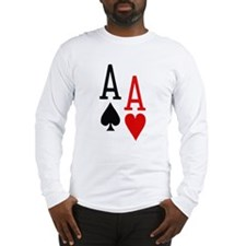 Pocket Aces Poker Long Sleeve T-Shirt