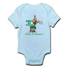 Personalized Babys 1st Christmas reindeer Body Sui