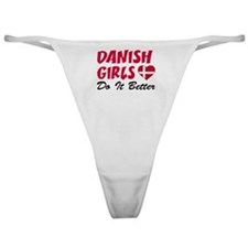 Danish Girls Do It Better Classic Thong