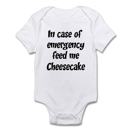 Feed me Cheesecake Infant Bodysuit
