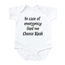 Feed me Cheese Steak Infant Bodysuit