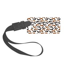 Dachshund White Luggage Tag