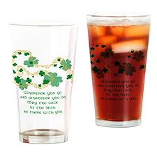 Irish Saying Drinking Glass