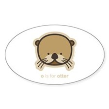 weeonez_otter_darkt_12x12 Decal
