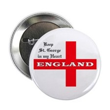 "St. George's Flag 2.25"" Button (10 pack)"